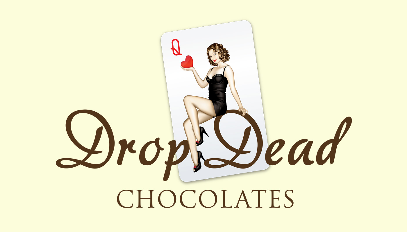 Drop Dead Chocolates branding